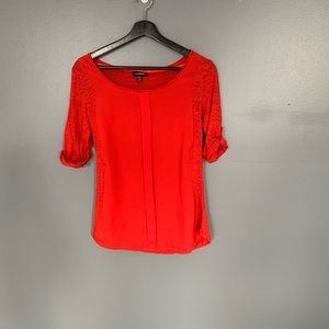 Le Chateau 3/4 Sleeve Blouse Red Size XS